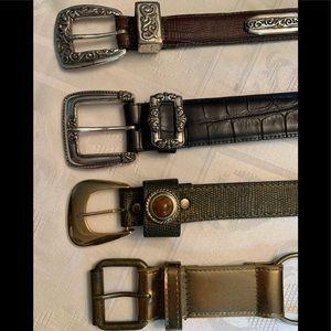 3 leather belts & 1 fun junk belt